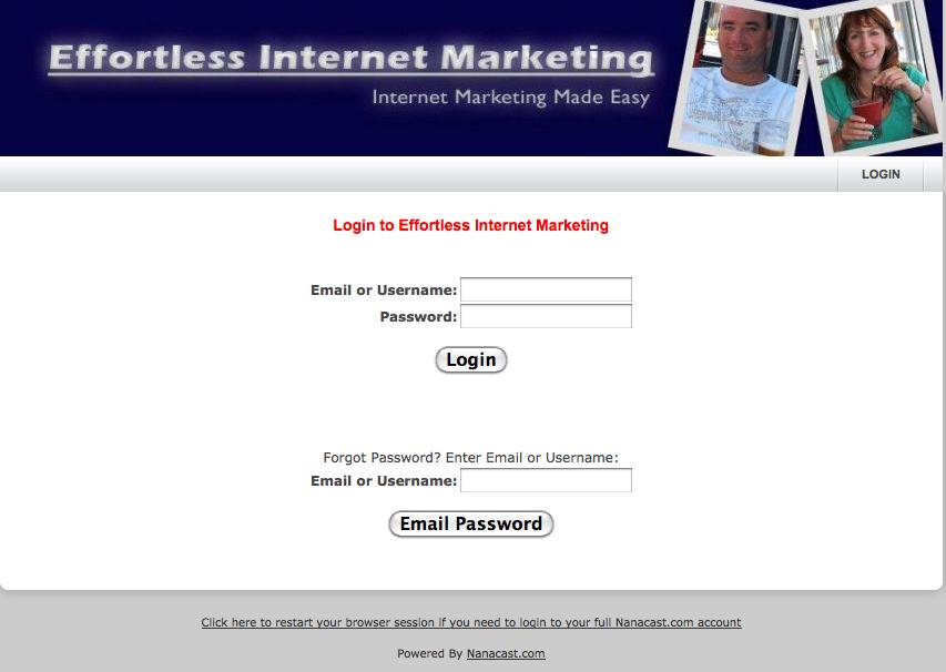 affiliate login area